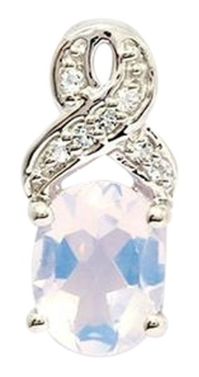 Other Genuine Lavender Quartz and White Topaz Sterling Silver Pendant, 1.73cts w/Certificate of Authenticity Image 0