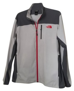 The North Face Top Grey and red