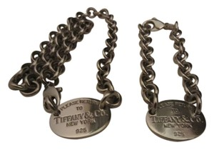 Tiffany & Co. Please Return To Tiffany Oval Tag Choker & Matching Bracelet