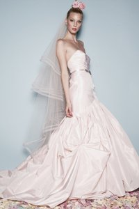 Watters & Watters Bridal Whisper Pink Silk Taffeta Talia/3035b Modern Wedding Dress Size 8 (M)