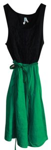 Maeve short dress Green/Black on Tradesy