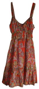 Free People short dress Orange Paisley on Tradesy