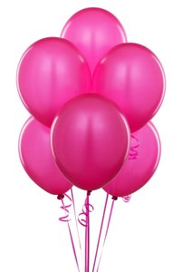 "Fuchsia 60 Pcs - 12"" Hot Pink Birthday Party Decor Latex Balloons Ceremony Table Top Ceiling Arch Centerpiece"