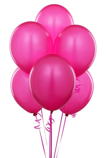 "Fuchsia 60 Pcs - 12"" Hot Pink Birthday Party Decor Latex Balloons Ceremony Table Top Arch Centerpiece"