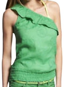 Express One One Summer Sleeveless Eyelet Lace Top Green