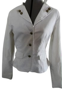Plugg Fitted Brass Buttons cream Blazer