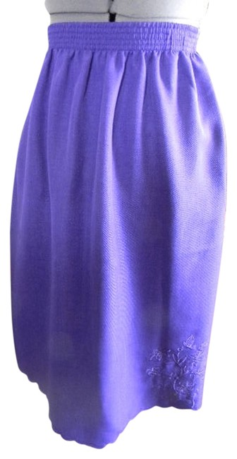 BonWorth Dressy Professional Scalloped Embossed Skirt Purple