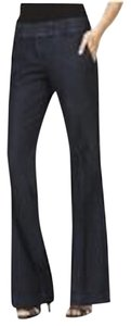 Express Trousers Professional Denim Pants Dark Rinse Dark Denim Flare Leg Jeans-Dark Rinse