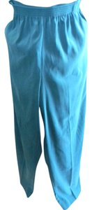 Alfred Dunner New With Tags 16 Petite Poly Blend Straight Pants forest green