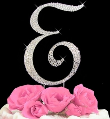 letter e wedding cake toppers large rhinestone monogram letter e wedding cake 16833