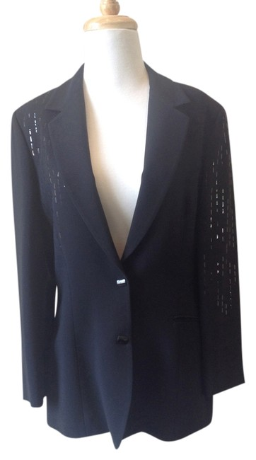 Preload https://item4.tradesy.com/images/claude-montana-black-vintage-blazer-size-8-m-806468-0-0.jpg?width=400&height=650