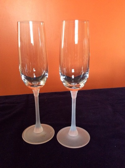 Frosted Champagne Flutes