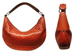 Gucci Embossed Leather Hobo Bag