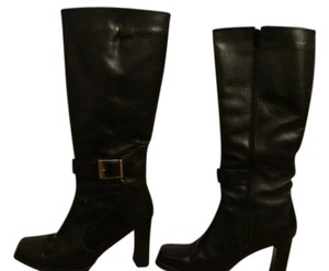 Vescardi Milano Leather Leather Black Boots