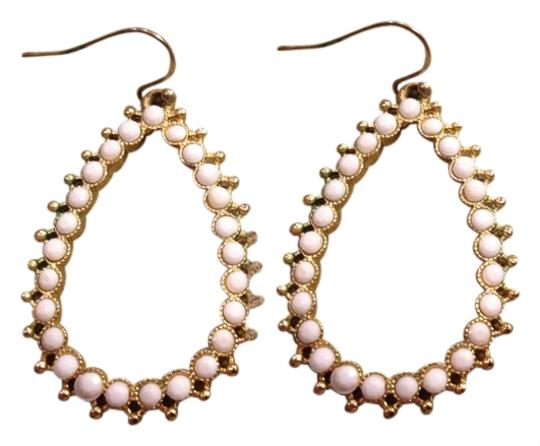 Other Gold Earrings with White Detail