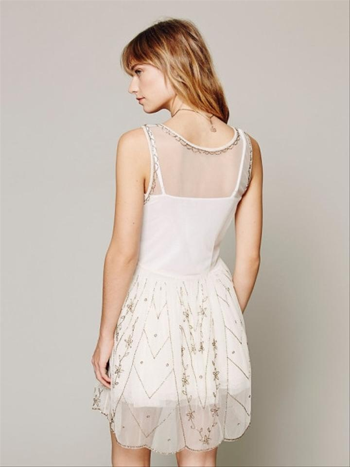 Free People Casual Dress Short Ivory Mini Dresses