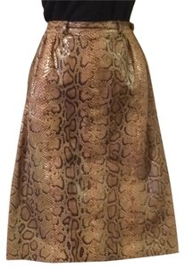 Valentino Skirt Brown, tan, green hues