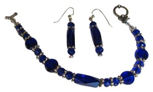 other SET BLUEISH/PURPLE BRACELET AND EARRINGS SET