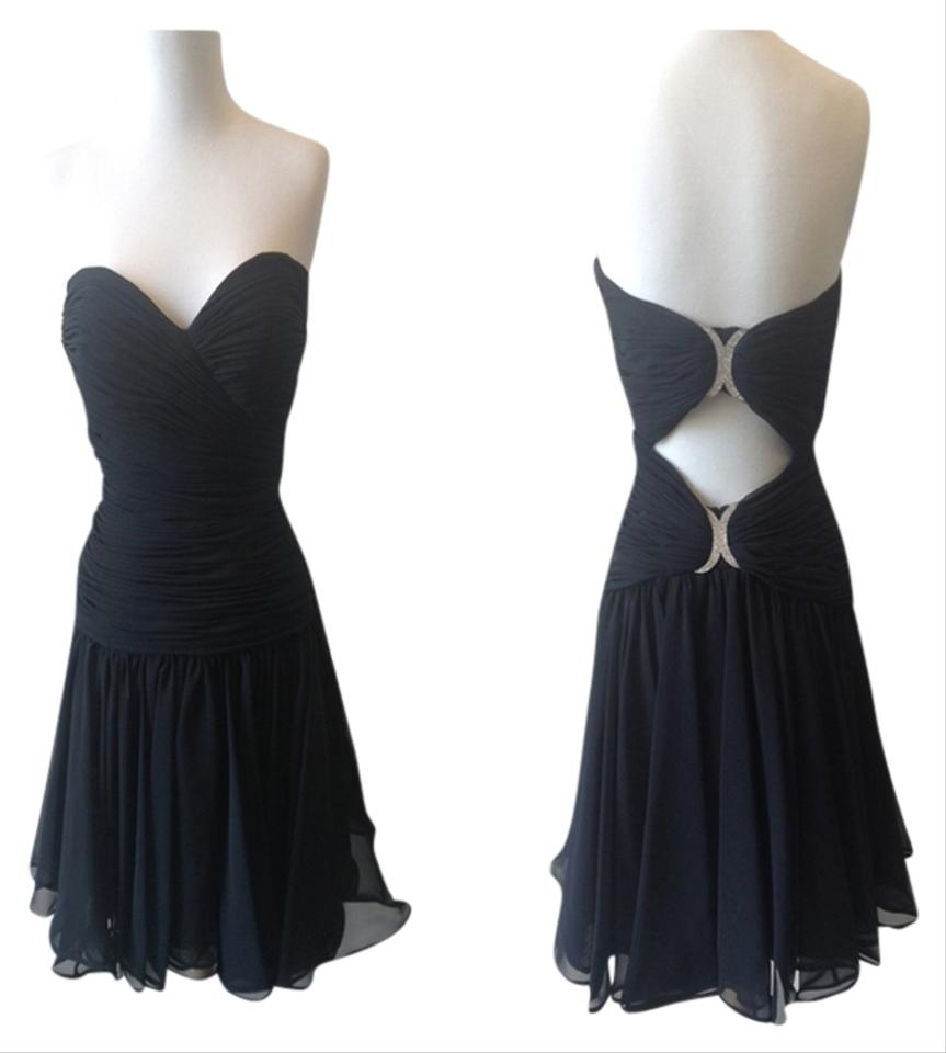 Black above knee cocktail dress size 6 s tradesy ombrellifo Choice Image