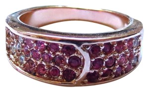 Elliot Francis 18k rose gold ombr pave ring