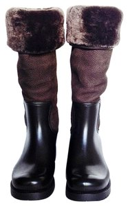Louis Vuitton Capuccino Brown Boots