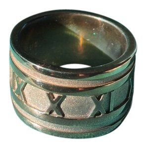 Tiffany & Co. Tiffany & Co. Sterling Silver Wide Atlas Band Ring Size 10.5