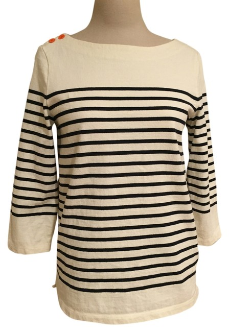 Item - Nautical Cotton White with Blue Stripe Sweater