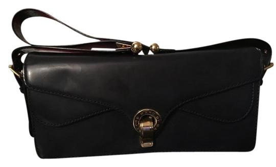 798ddcecce7212 Marc Jacobs Purse with Gold Metal Details Navy Patent Leather ...