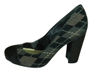Madden Girl Brown/Grey Argyle Pumps