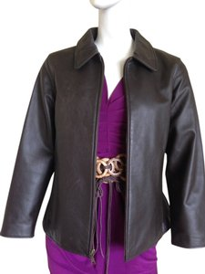 Eddie Bauer Leather Brown Leather Leather Leather Jacket