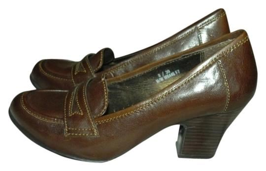 Børn Penny Loafer Wear To Work Arch Support Brown Pumps