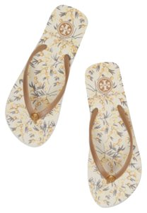 Tory Burch Corduroy brown-vint flor Sandals