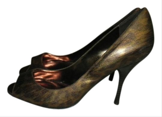 Enzo Angiolini Animal Print Date Night Wedding Bronze Leopard Pumps Image 0