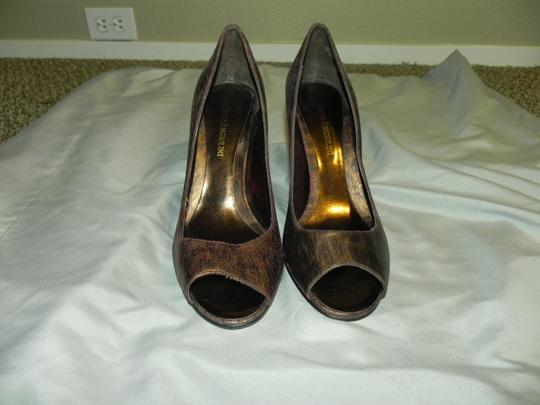 Enzo Angiolini Animal Print Date Night Wedding Bronze Leopard Pumps Image 3
