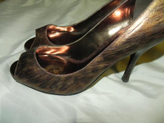 Enzo Angiolini Animal Print Date Night Wedding Bronze Leopard Pumps Image 4