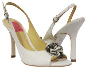 MS Shoe Designs White Pumps