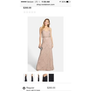 Adrianna Papell Blush/Taupe Formal Bridesmaid/Mob Dress Size 6 (S)