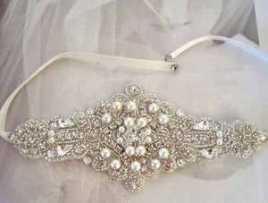 Other Wedding Bridal Beaded Crystal Bracelet Cuff Pearls