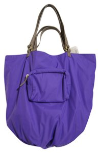 Kooba Nylon Tote in Purple and Beige