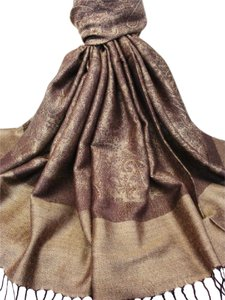 Vecceli Italy GREAT DEAL- A Silky Blend Pashmina Scarf - Free Shipping - paisley pashmina A-303