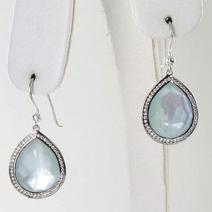 Ippolita Ippolita Earrings Stella Teardrop 0.38cts Diamond Blue Topaz Mop Doublet 925