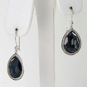 Ippolita Ippolita Earrings Stella Teardrop 0.38cts Diamond Hematite Doublet 925