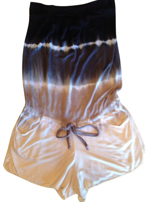 Item - Black. Charcoal Taupe Cream W White Stripe Romper/Cover-up Cover-up/Sarong Size 4 (S)