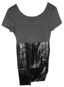 Miss Chic Vous short dress Black Faux Leather on Tradesy