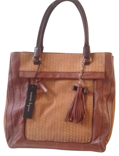 Item - Textured Brown Leather Tote