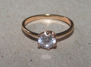 Classic 1/2ct White Sapphire Solitaire Ring Free Shipping