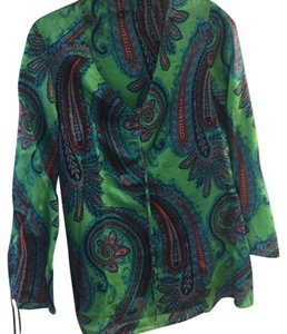 Other Silk Paisley Blue Tunic