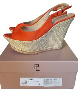 Pura Lopez orange Sandals