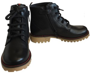Gucci toddler black leather boots size 32 Blac Boots