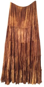 Surrealist Maxi Skirt Brown and tan ombre